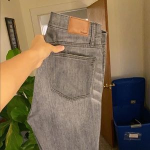 Madewell high rise grey skinny jeans